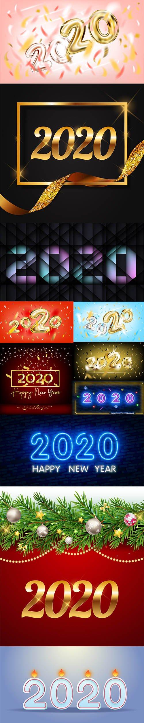 Happy New Year 2020 Illustrations
