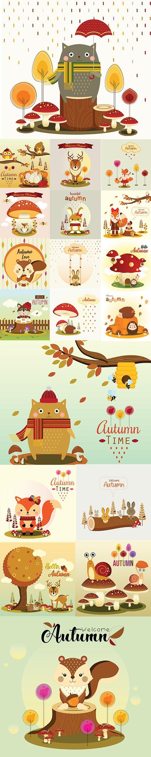 Hello Autumn Illustrations 4