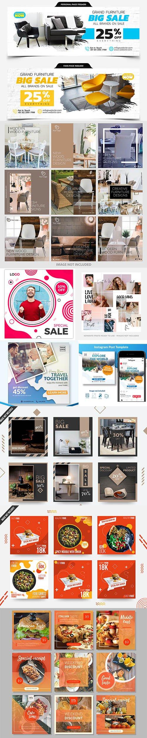 Elegant Social Media Post Template - Instagram and Facebook Cover