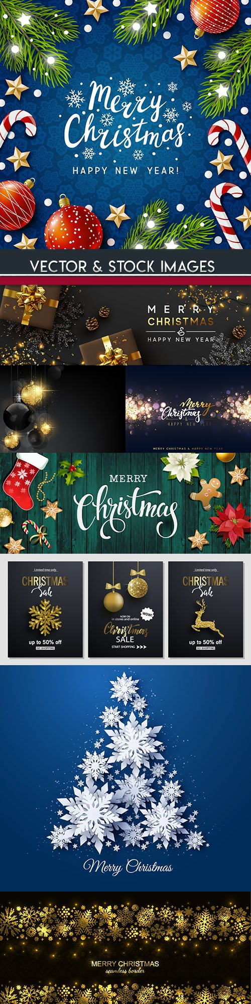 New Year and Christmas decorative illustration 3