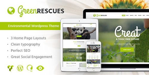 ThemeForest - Green Rescues v1.6 - Environment Protection Antipollution Eco WordPress Theme - 13623861