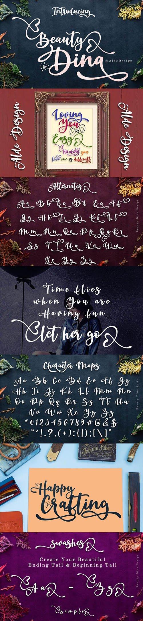 Beauty Dina | Beautiful Brush Script