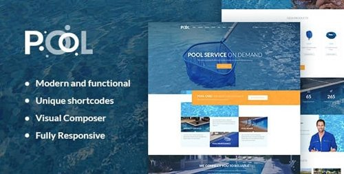 ThemeForest - Pool Services v1.1 - Swimming Pool Maintenance & Cleaning Services WordPress Theme - 17397434