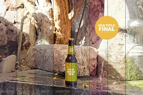 Fountain Beer Mockup PSD