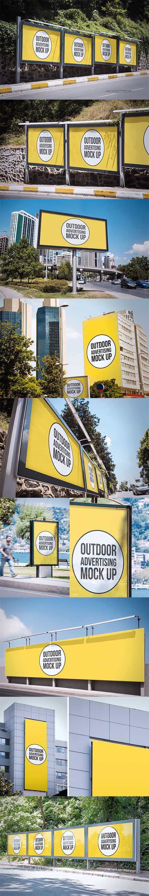Outdoor Advertisement Mockup Template PSD