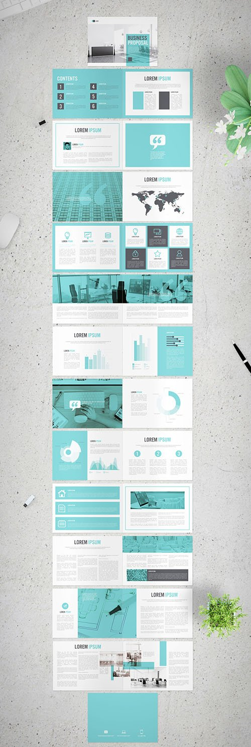 Horizontal Business Proposal with Light Blue Accents 281292692 INDT