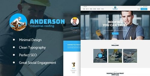ThemeForest - Anderson v1.2.1 - Industrial Roofing Services Construction WordPress Theme - 20589274