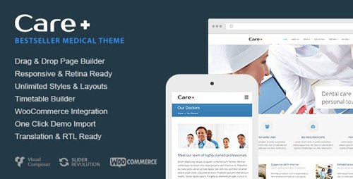 ThemeForest - Care v4.7.1 - Medical and Health Blogging WordPress Theme - 868243