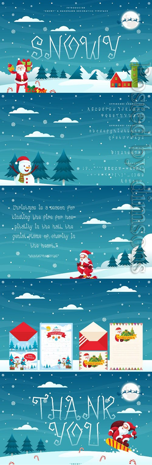 Snowy - Decorative Christmas Font