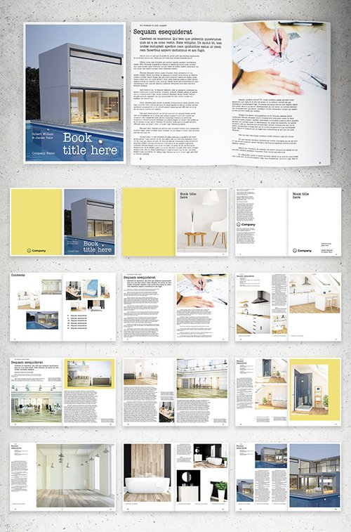 Book Layout with Yellow Accents 293874299 INDT
