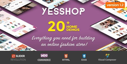 ThemeForest - Yesshop v1.3.7 - Responsive Multipurpose WordPress WooCommerce Theme - 20408950
