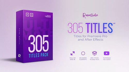 305 Titles Ultimate Pack for Premiere Pro & After Effects 21825597