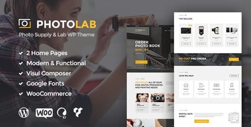 ThemeForest - PhotoLab v1.7 - A Trendy Picture Company & Stock Image Supply Store WordPress Theme - 16020963