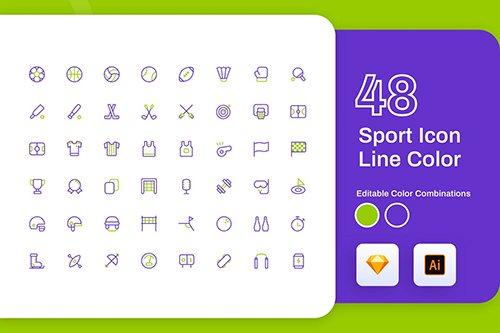 Sport Icon Line Color