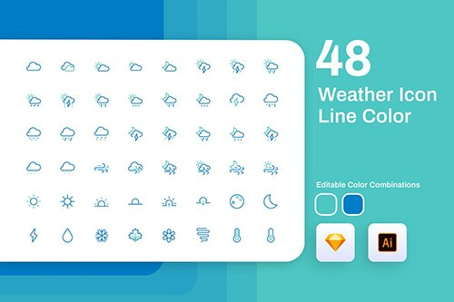 Weather Icon Line Color