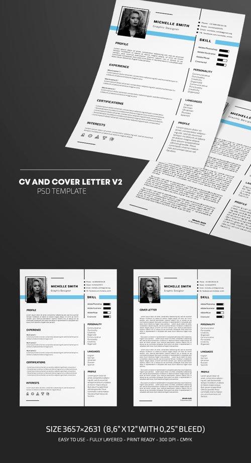 CV & Cover Letter v2 - PSD Template