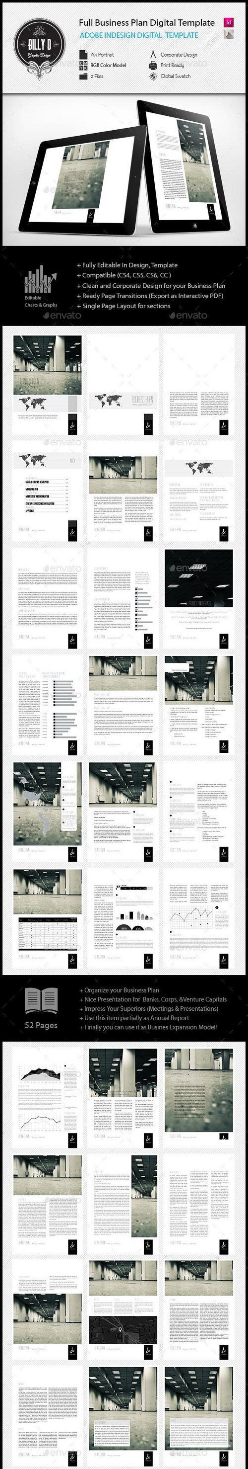 GR - Full Business Plan Digital InDesign A4 Template