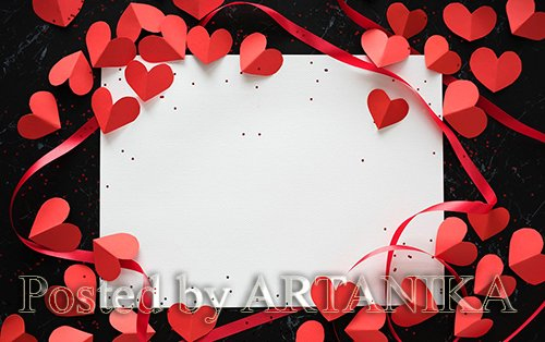 Love Decorated Greeting Cards Paper 5713
