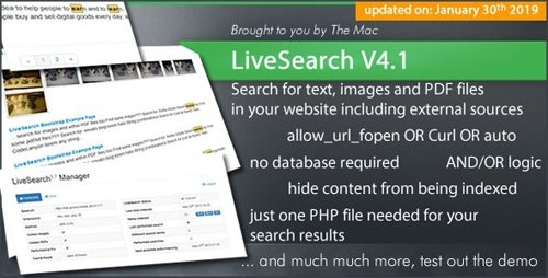 CodeCanyon - LiveSearch v4.1 - Searchengine for your Website - 86875