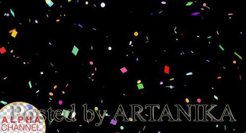 Confetti Falling Alpha Channel 4K 24775560