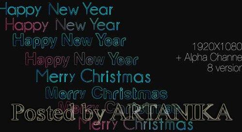 Happy New Year & Mery Christmas ( 8 in 1 ) 6358789