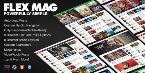 ThemeForest - Flex Mag v3.0.1 - Responsive WordPress News Theme - 12772303