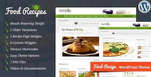 ThemeForest - Food Recipes v4.0.2 - WordPress Theme - 1923882