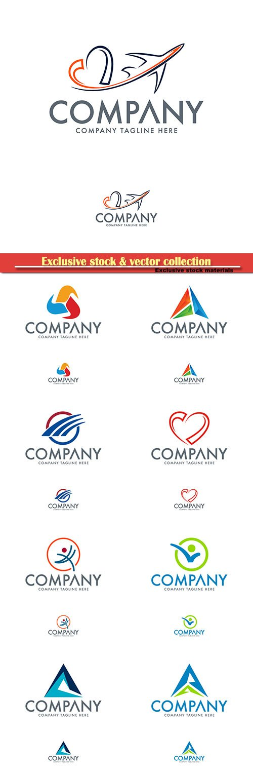 Logo vector template business set # 53