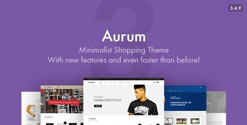 ThemeForest - Aurum v3.4.9 - Minimalist Shopping Theme - 9600822