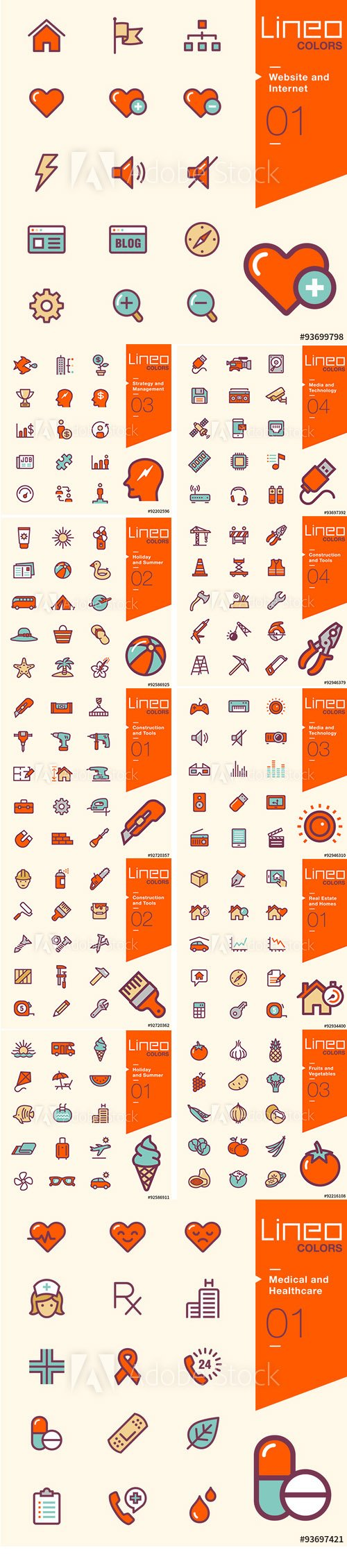 Lineo Colors Icons Pack Vol 3