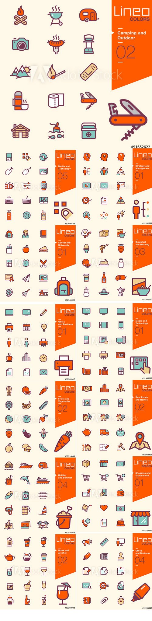 Lineo Colors Icons Pack Vol 2