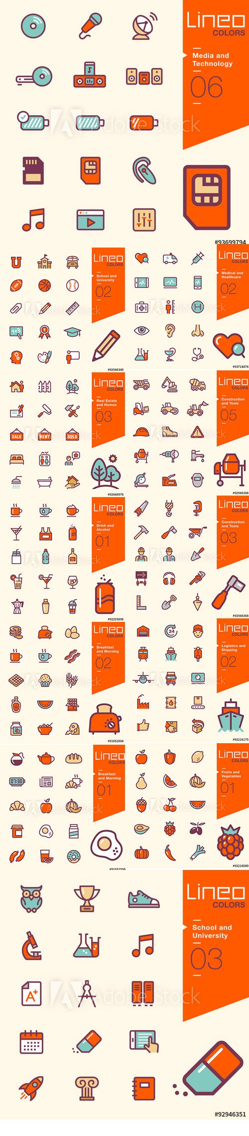 Lineo Colors Icons Pack