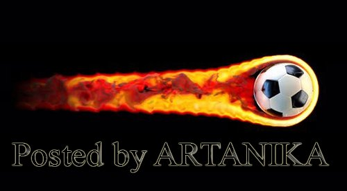 Flying soccer ball on fire on a black background 24788694