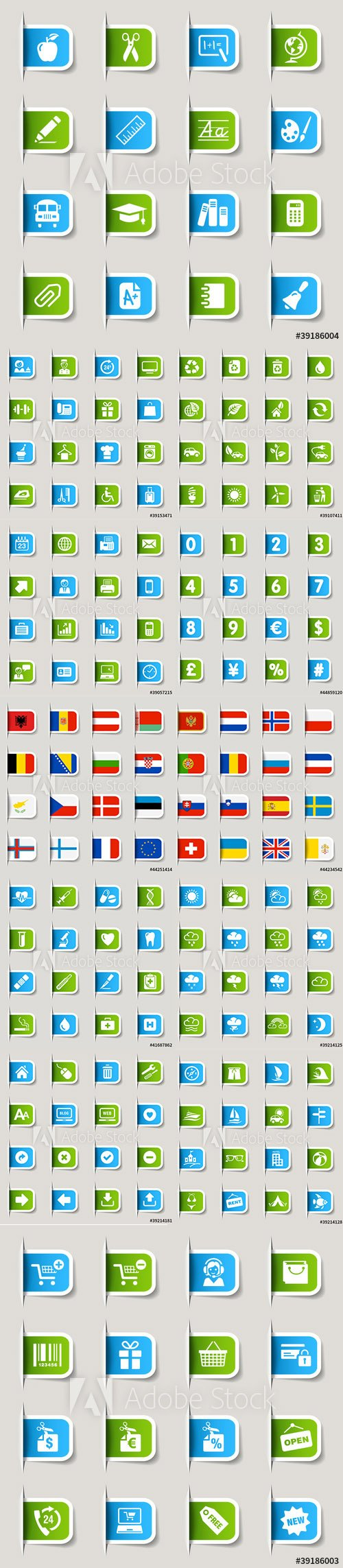 Vector LABEL Icons Pack