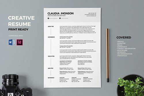 Resume / CV Template Pro Indesign