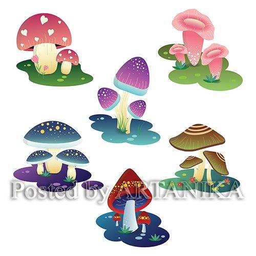 Decorative Colorful Mushroom
