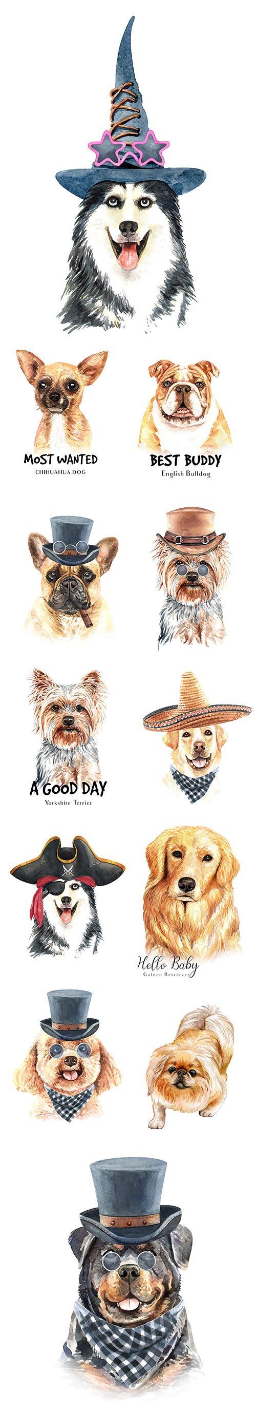 Watercolor Printing Animals Vol 5