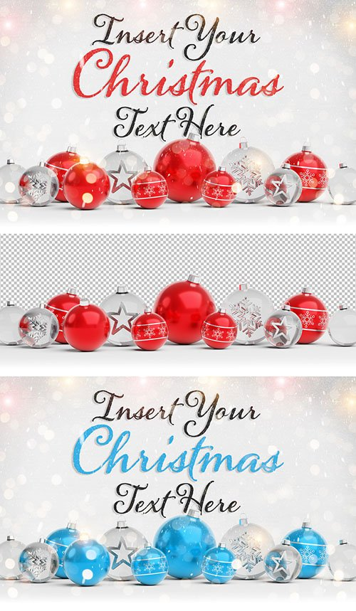 Christmas Card Mockup with Ornaments 294697862 PSDT