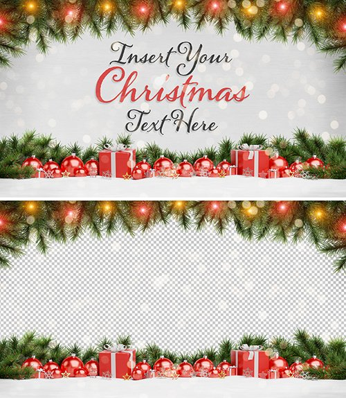 Christmas Card Mockup with Ornaments 294697994 PSDT
