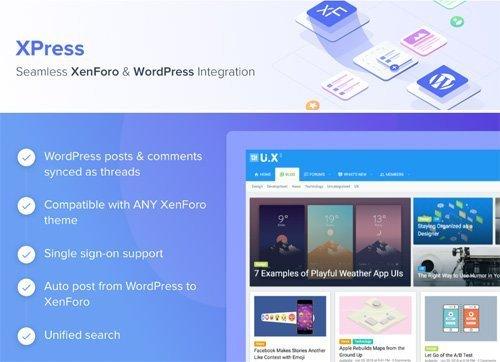 ThemeHouse - XPress v1.1.2 - XenForo 2 Add-on - WordPress Integration