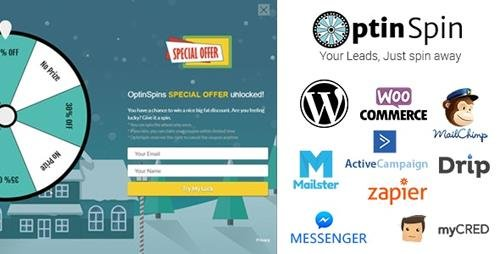 CodeCanyon - OptinSpin v2.14 - Fortune Wheel Integrated With WordPress, WooCommerce and Easy Digital Downloads Coupons - 20768678