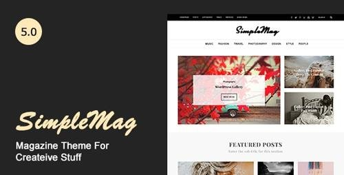 ThemeForest - SimpleMag v5.0 - Magazine theme for creative stuff - 4923427