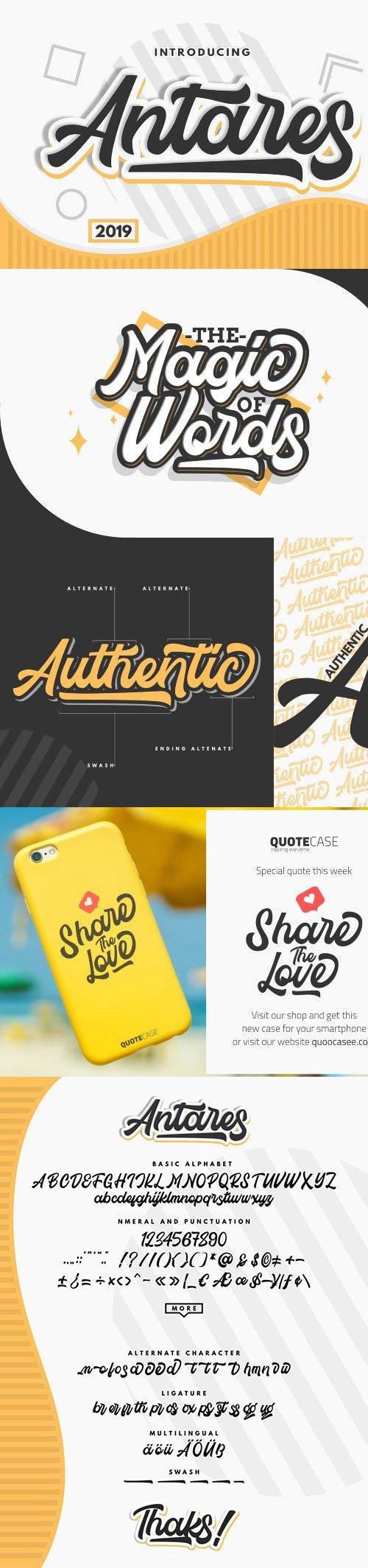 Antares - Authentic Font