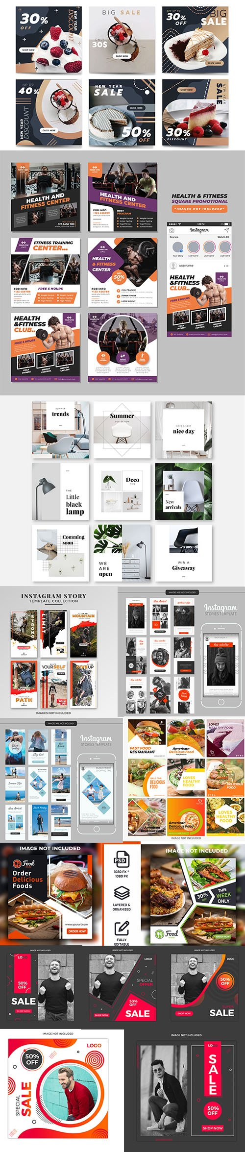 Social Media Banner Template and Instagram Stories