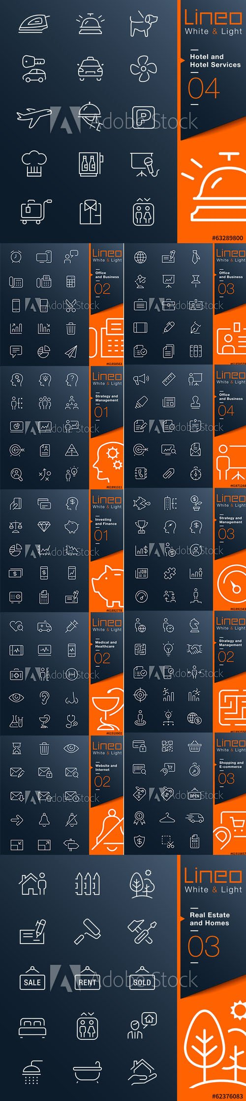 Lineo White and Light Outline Icons Vol 2