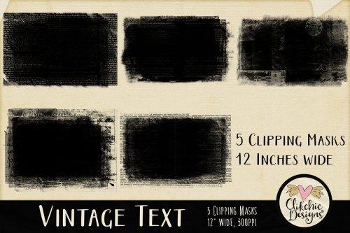 CreativeMarket - Vintage Text Clipping Masks & Tut 3752347
