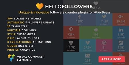 CodeCanyon - Hello Followers v2.5 - Social Counter Plugin for WordPress - 15801729