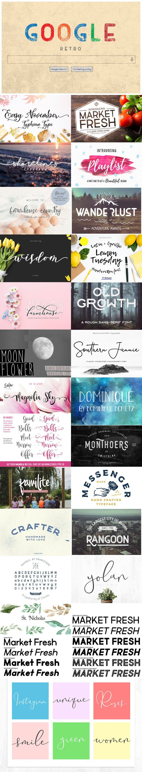 21 Modern Fonts Collection