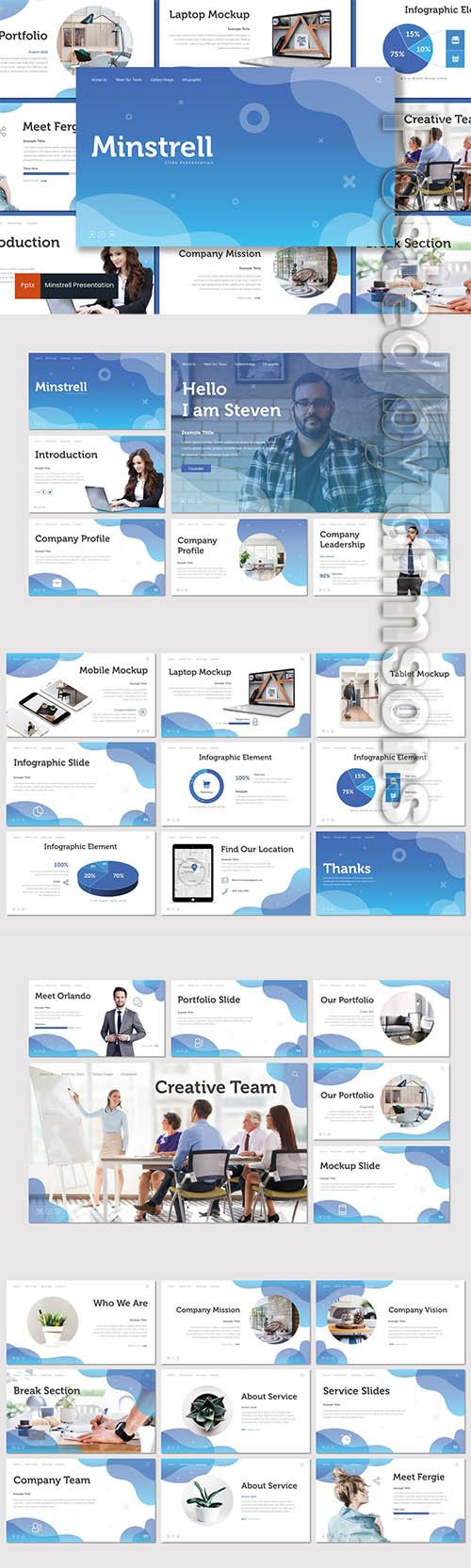 Minstrell - Powerpoint, Keynote and Google Slides Templates