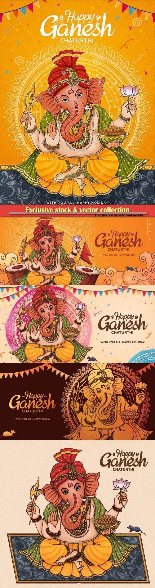 Happy Ganesh Chaturthi poster design